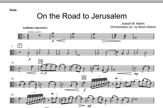 On The Road To Jerusalem - Viola (Choir Instrumental Pak)