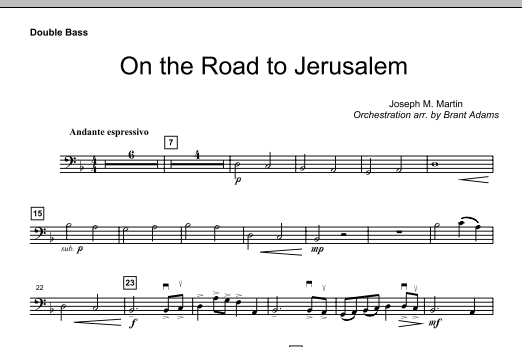 On The Road To Jerusalem - Double Bass (Choir Instrumental Pak)