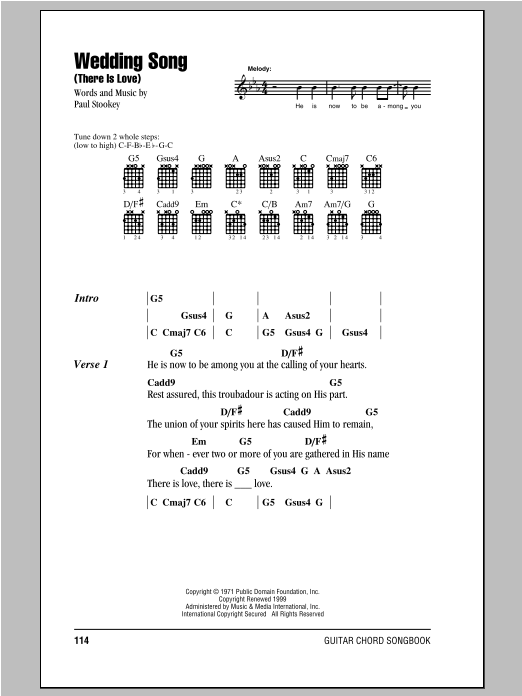Wedding Song (There Is Love) Sheet Music