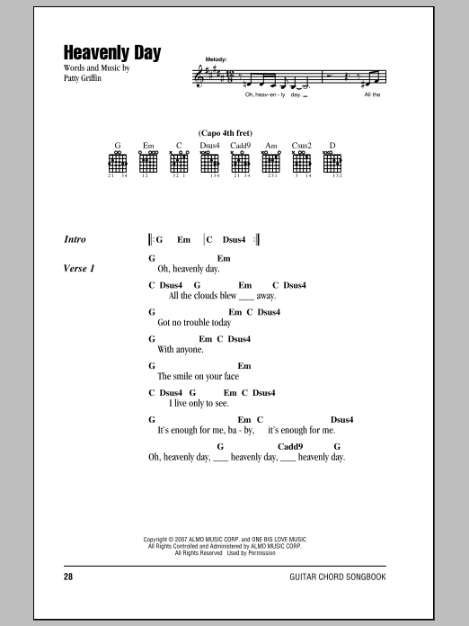 Heavenly Day Sheet Music
