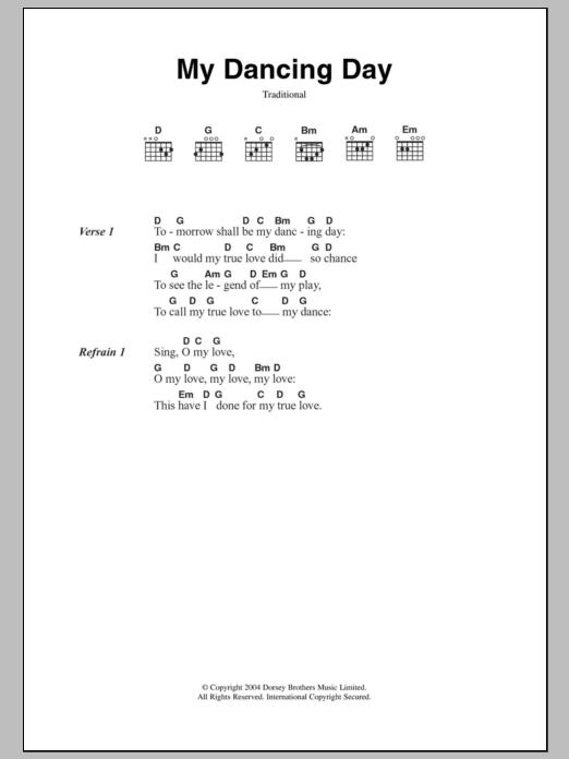 My Dancing Day Sheet Music