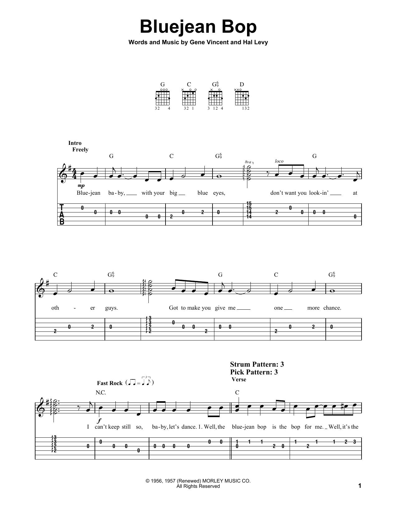 Bluejean Bop (Easy Guitar Tab)