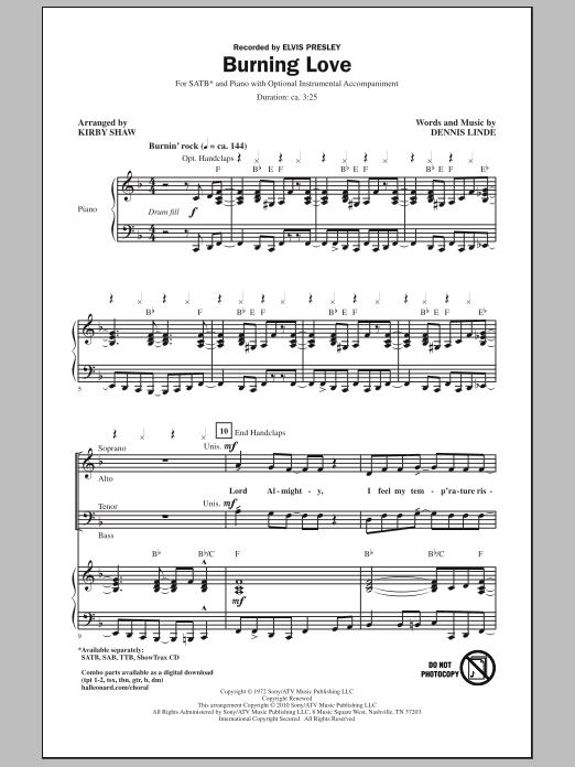 Burning Love (SATB Choir)