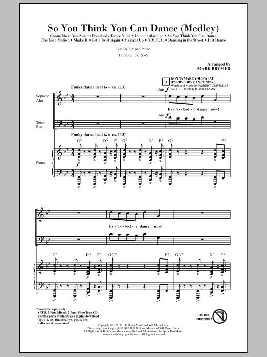 So You Think You Can Dance (Medley) (SATB Choir)