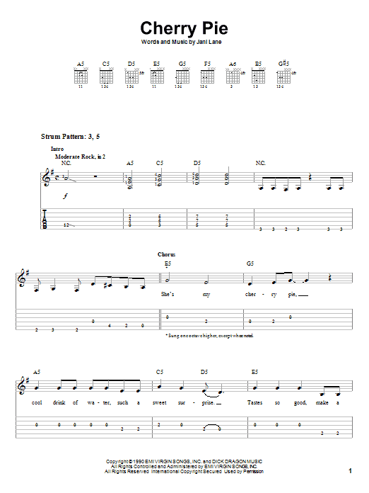 Cherry Pie Sheet Music