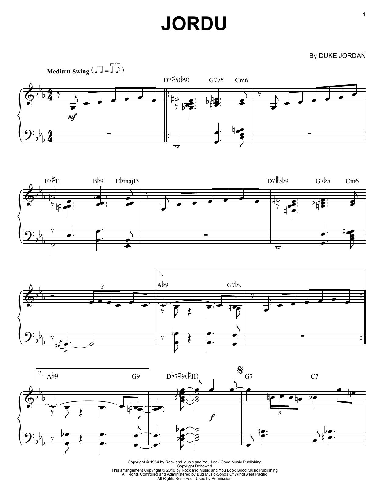 Jordu Sheet Music