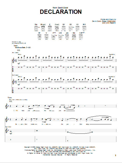 Declaration (Guitar Tab)