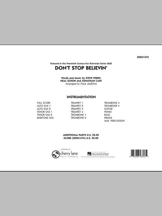 Don't Stop Believin' - Full Score (Jazz Ensemble)