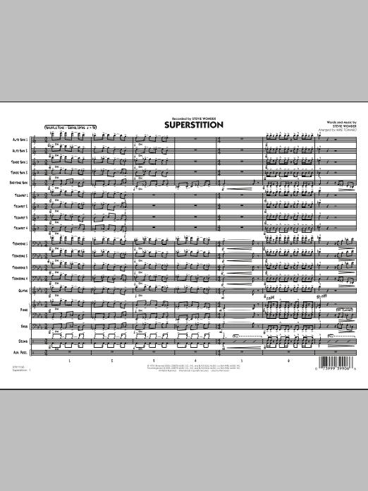 Superstition - Conductor Score (Full Score) (Jazz Ensemble)