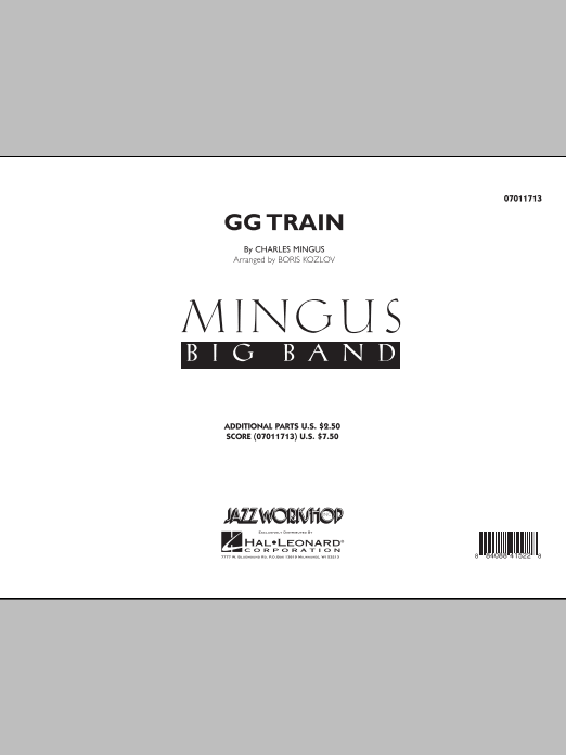 GG Train (COMPLETE) sheet music for jazz band by Boris Kozlov and Charles Mingus. Score Image Preview.