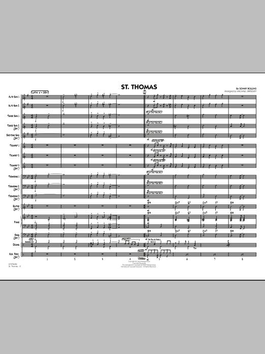 St. Thomas - Conductor Score (Full Score) (Jazz Ensemble)