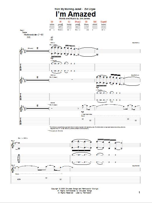 I'm Amazed (Guitar Tab)