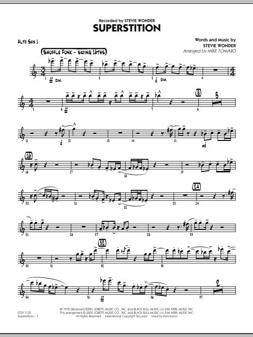 Superstition - Alto Sax 1 (Jazz Ensemble)