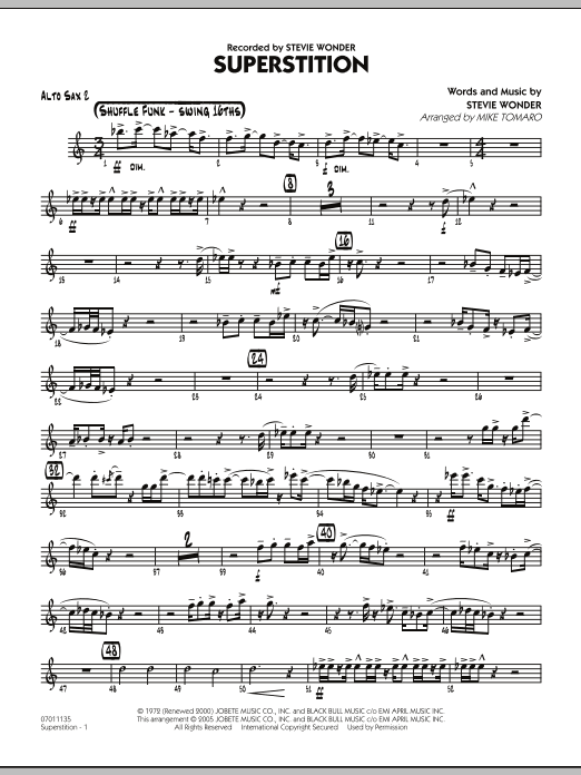 Superstition - Alto Sax 2 (Jazz Ensemble)