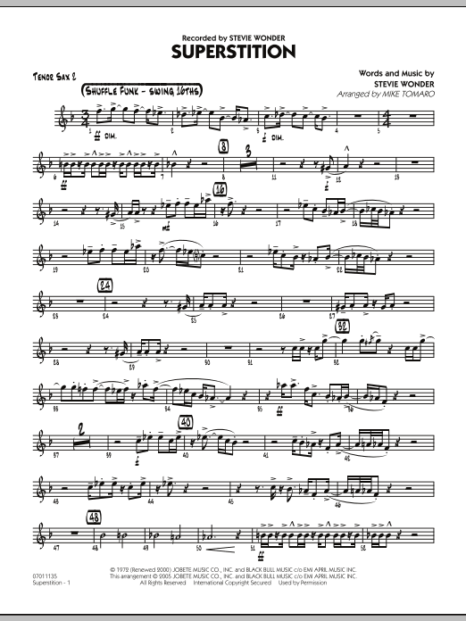 Superstition - Tenor Sax 2 (Jazz Ensemble)