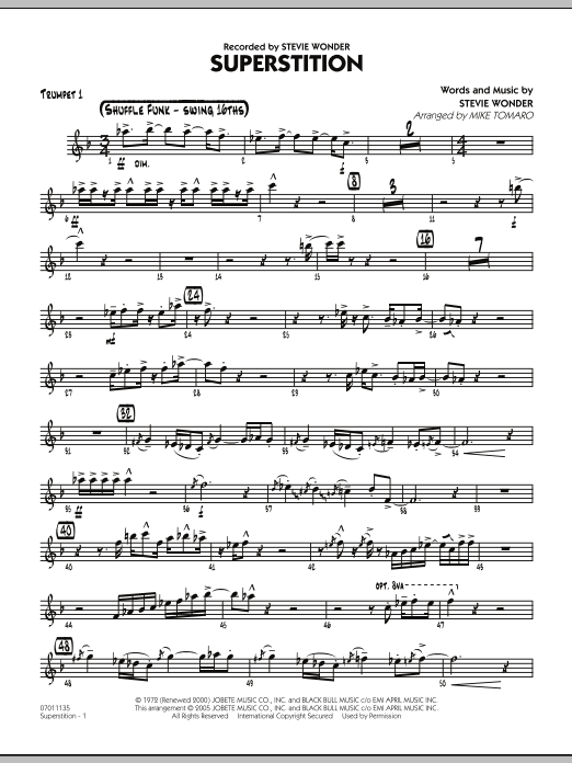 Superstition - Trumpet 1 (Jazz Ensemble)