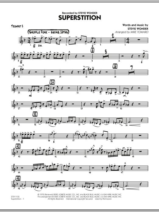 Superstition - Trumpet 3 (Jazz Ensemble)