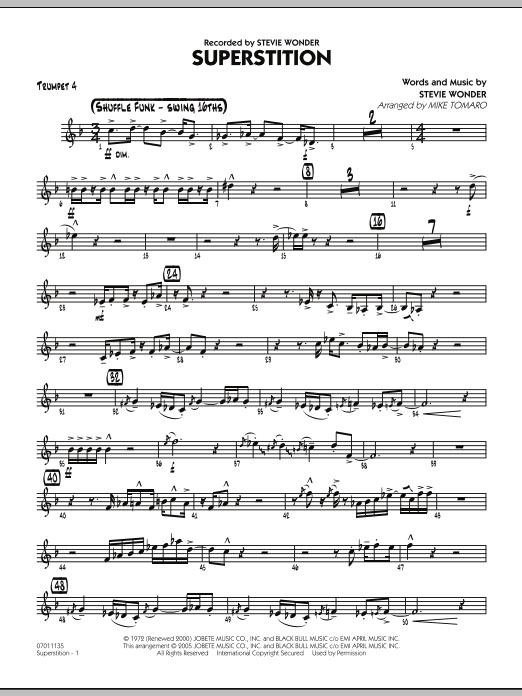 Superstition - Trumpet 4 (Jazz Ensemble)