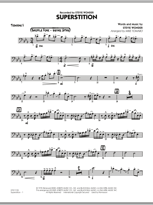 Superstition - Trombone 3 (Jazz Ensemble)
