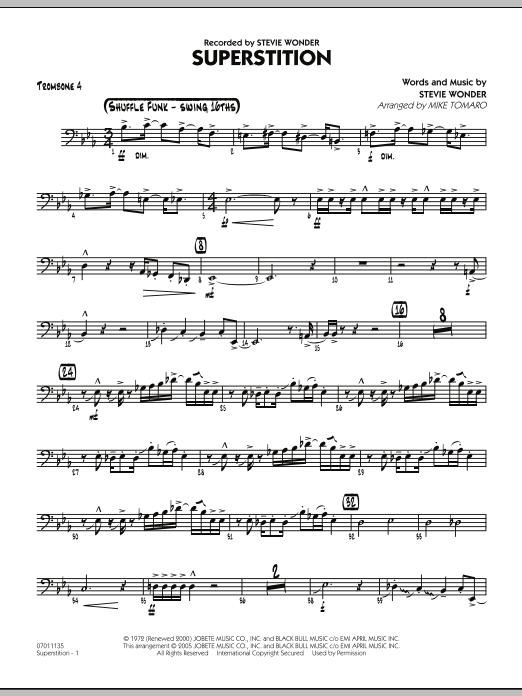 Superstition - Trombone 4 (Jazz Ensemble)