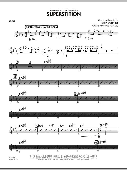 Superstition - Guitar (Jazz Ensemble)