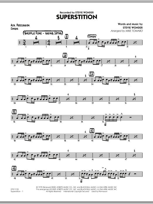 Superstition - Aux Percussion (Jazz Ensemble)