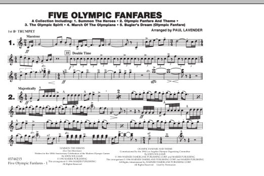 Five Olympic Fanfares - 1st Bb Trumpet (Marching Band)