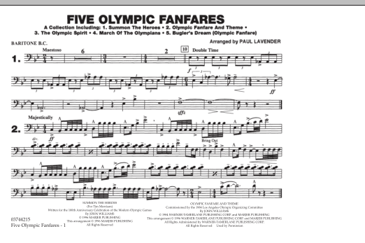 Five Olympic Fanfares - Baritone B.C. (Marching Band)