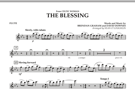The Blessing (from Celtic Woman) - Flute (Concert Band)