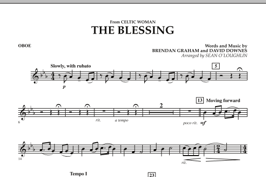 The Blessing (from Celtic Woman) - Oboe (Concert Band)