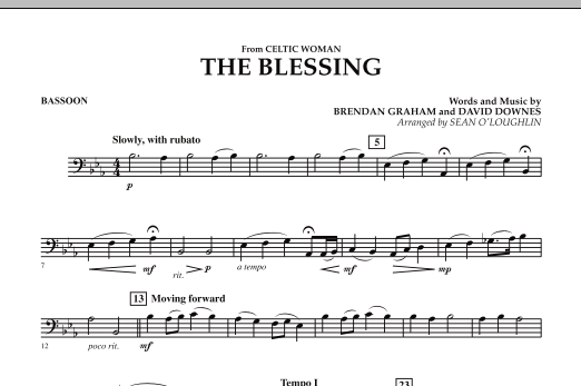The Blessing (from Celtic Woman) - Bassoon (Concert Band)