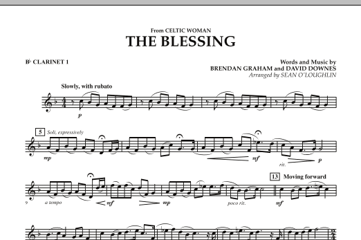 The Blessing (from Celtic Woman) - Bb Clarinet 1 (Concert Band)