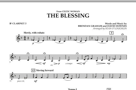 The Blessing (from Celtic Woman) - Bb Clarinet 3 (Concert Band)