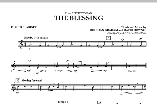 The Blessing (from Celtic Woman) - Eb Alto Clarinet (Concert Band)