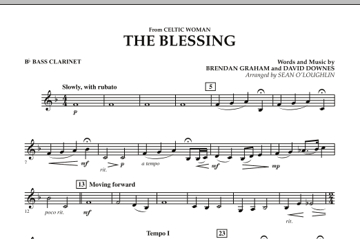 The Blessing (from Celtic Woman) - Bb Bass Clarinet (Concert Band)