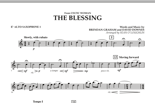 The Blessing (from Celtic Woman) - Eb Alto Saxophone 1 (Concert Band)