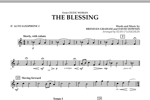 The Blessing (from Celtic Woman) - Eb Alto Saxophone 2 (Concert Band)