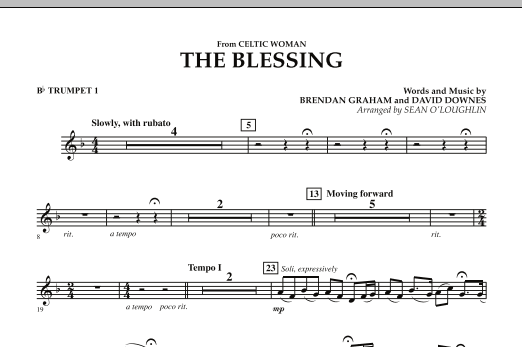 The Blessing (from Celtic Woman) - Bb Trumpet 1 (Concert Band)
