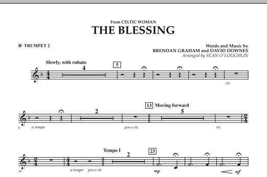 The Blessing (from Celtic Woman) - Bb Trumpet 2 (Concert Band)