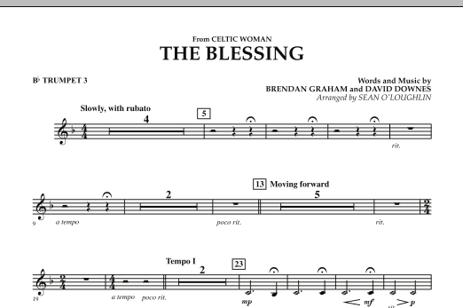 The Blessing (from Celtic Woman) - Bb Trumpet 3 (Concert Band)