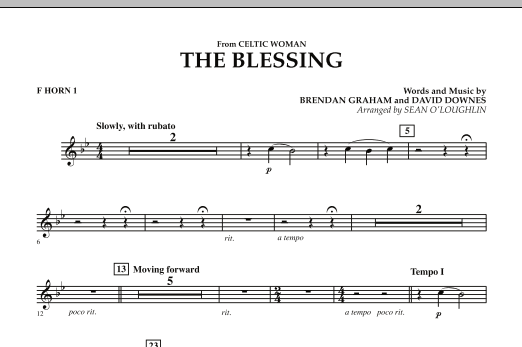 The Blessing (from Celtic Woman) - F Horn 1 (Concert Band)