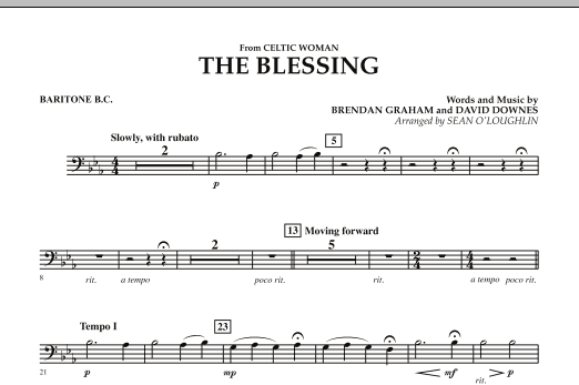 The Blessing (from Celtic Woman) - Baritone B.C. (Concert Band)