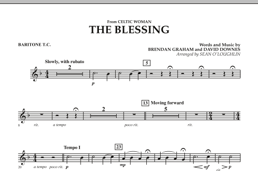The Blessing (from Celtic Woman) - Baritone T.C. (Concert Band)