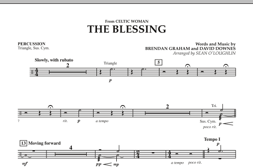 The Blessing (from Celtic Woman) - Percussion (Concert Band)