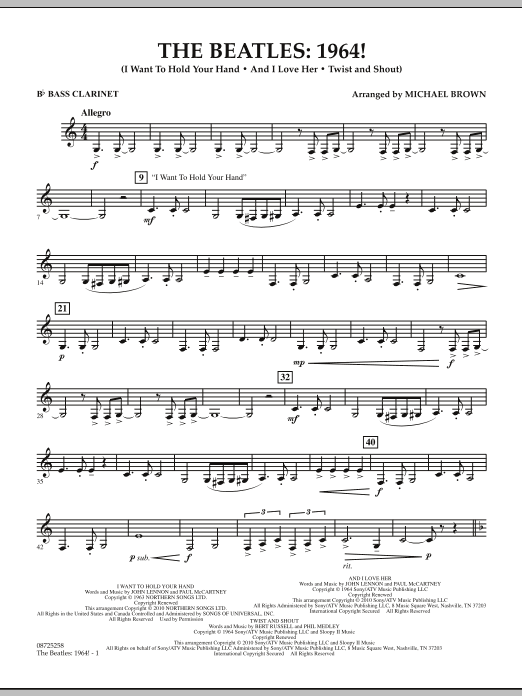 The Beatles - 1964! - Bb Bass Clarinet (Concert Band)
