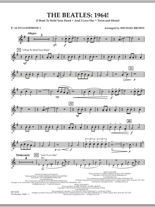 The Beatles - 1964! - Eb Alto Saxophone 1 (Concert Band)