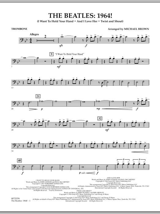 The Beatles - 1964! - Trombone (Concert Band)