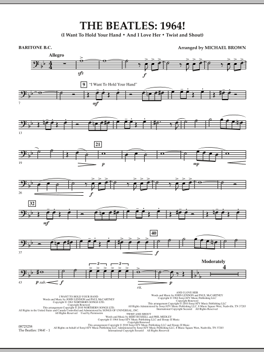 The Beatles - 1964! - Baritone B.C. (Concert Band)