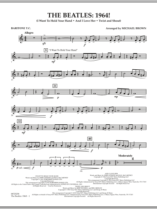 The Beatles - 1964! - Baritone T.C. (Concert Band)