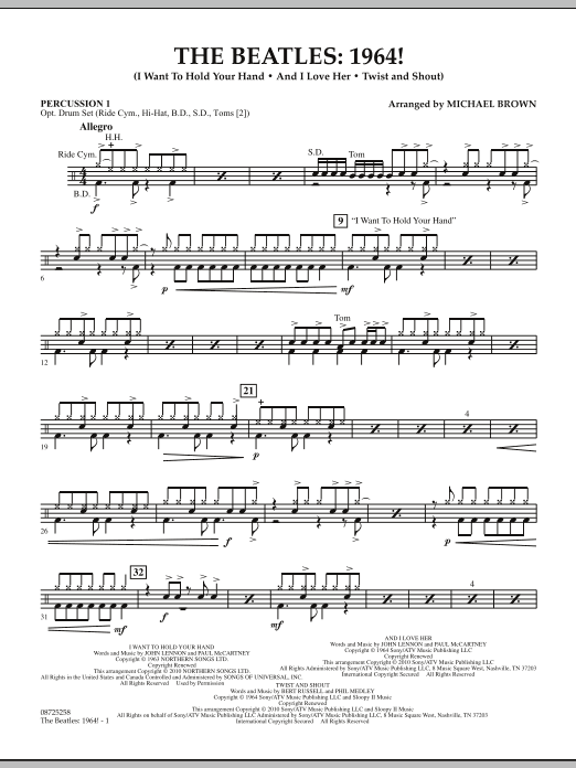The Beatles - 1964! - Percussion 1 (Concert Band)